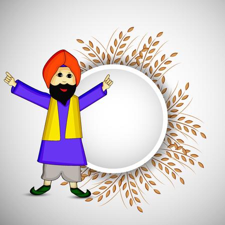 Illustration of background for Lohri