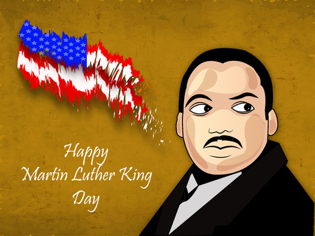 civil rights: Illustration of background for Martin Luther King Day Illustration