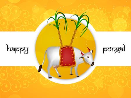 Illustration of background for Pongal Illustration