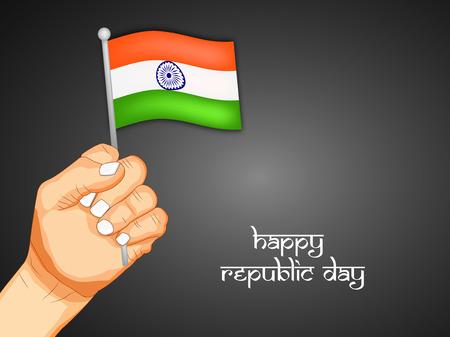 26th: Republic Day Background Illustration