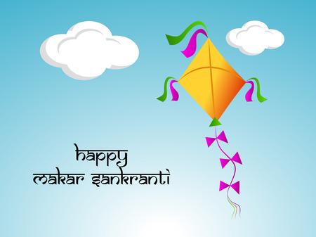 Illustration of background for Makar Sankranti