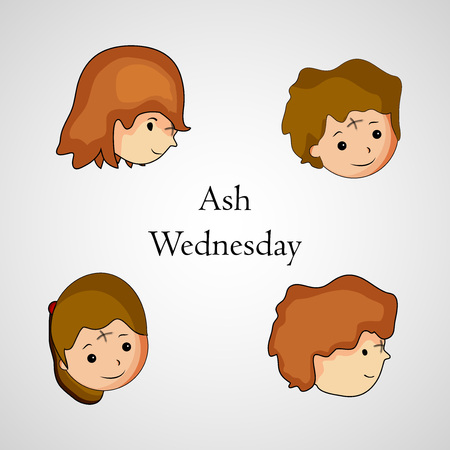 sinner: Illustration of ashes cross on a white background for Ash Wednesday