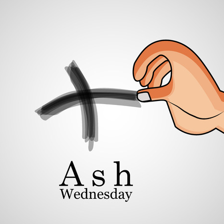 Illustration of ashes cross on a white background for Ash Wednesday Stock fotó - 69676346