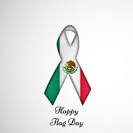 la: Illustration of elements for Mexico Flag Day background