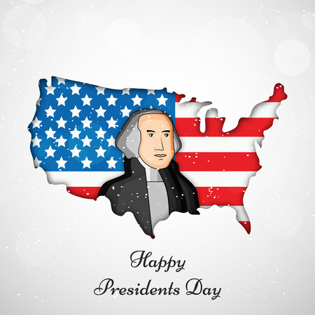 Illustration of background for the occasion of Presidents Day Ilustração