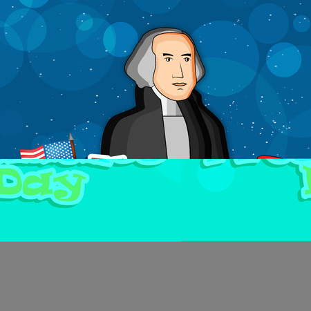 george washington: Illustration of U.S.A Flag for President Day