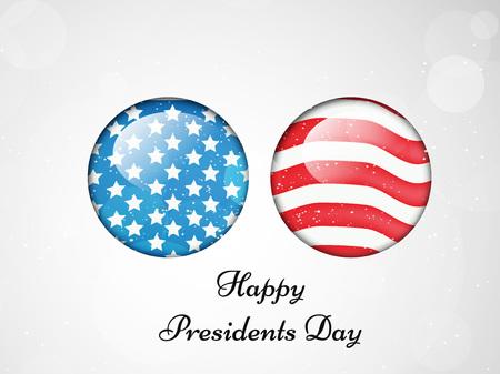 george washington: Illustration of U.S.A Flag for President Day