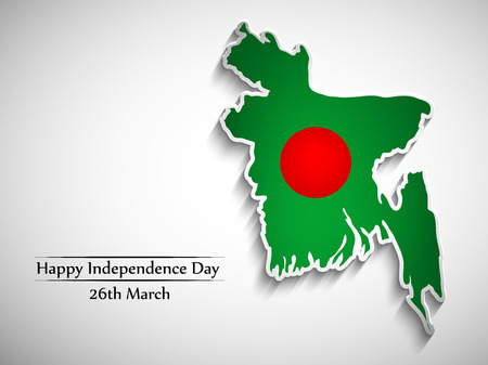 Illustration of Bangladesh flag for Bangladesh Independence Day