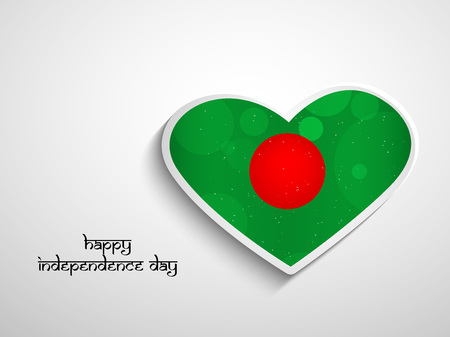 Illustration of Banglash Flag for Bangladeshi New Year