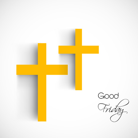 Illustration of cross with effects for Good Friday