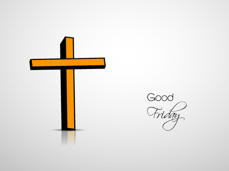 Illustration of Cross for the occasion of Good Friday