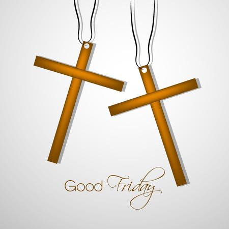 Illustratie van de kruising met gevolgen voor Goede Vrijdag