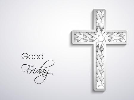 Illustrazione della croce con effetti per il Venerdì Santo