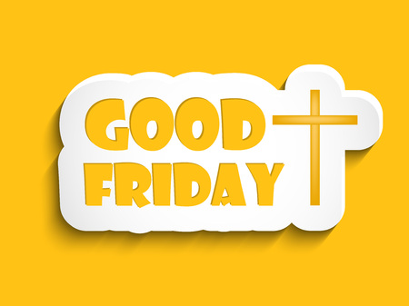 Illustration of text and cross with effects for Good Friday