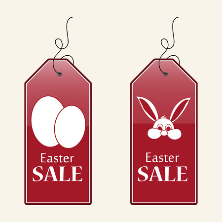 Illustration of sale tags for Easter