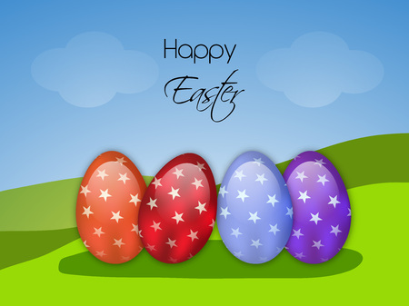 Illustration of Easter elements for the occasion of Easter Illustration