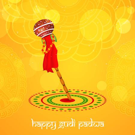 Illustratie van elementen voor de gelegenheid van Gudi Padwa