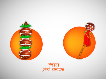 maharashtra: Illustration of elements for the occasion of Gudi Padwa
