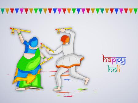 gulal: Illustration of elements for Holi festival Illustration