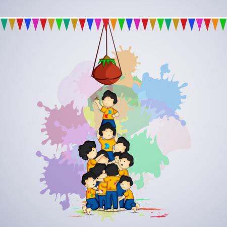 Illustration of elements for Holi festival Illustration