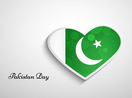 Illustration of Pakistan Flag for Pakistan Day