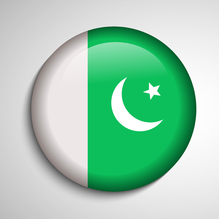 6th: Illustration of Pakistan Flag for Pakistan Day