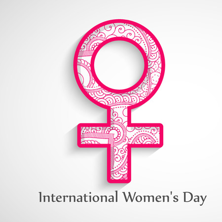 Illustration of background for Womens Day