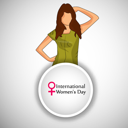 greeting cards International Women s Day: Illustration for Womens Day