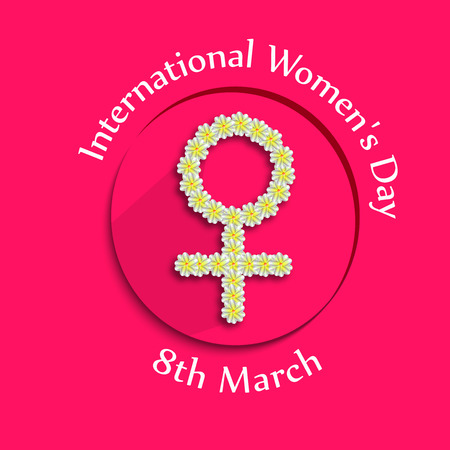 greeting cards International Women s Day: Illustration of background for Womens Day