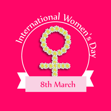 Illustration of background for Women's Day
