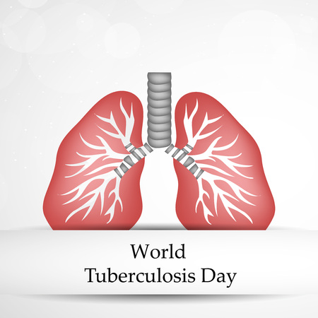 tb: Illustration of background for Tuberculosis Day