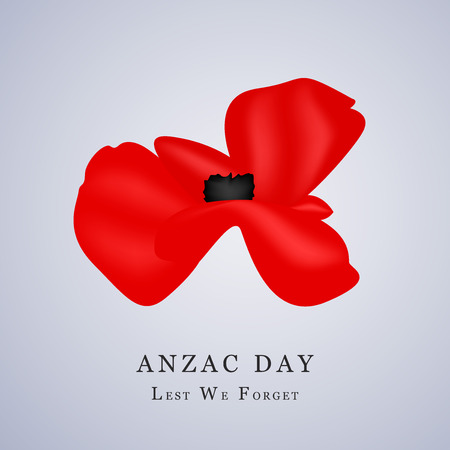 Illustration of poppy flower for Anzac Day Illustration