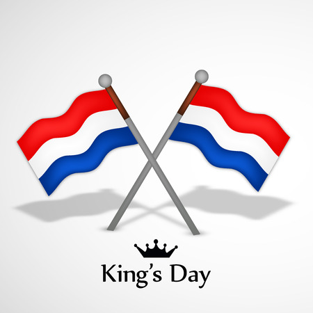 27: Illustration of Netherlands Flags for Kings Day