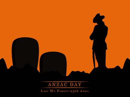 Illustrazione di elementi per Anzac Day