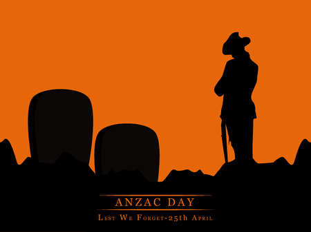 Illustration of elements for Anzac Day
