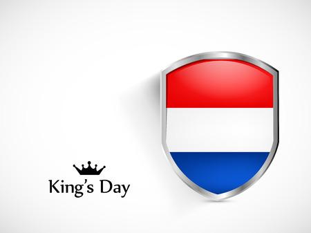 netherlands flag: Illustration of Netherlands Flag for Kings Day