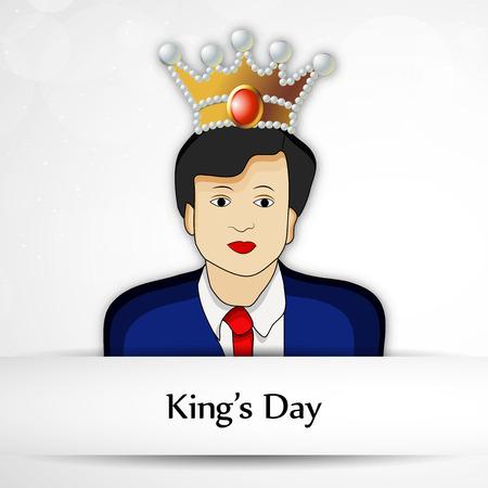 Illustration of Netherlands Flag for Kings Day