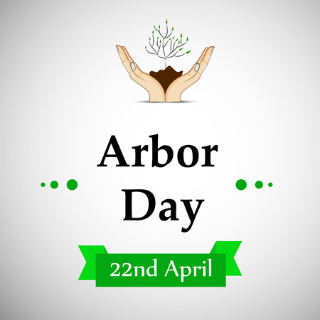 Illustration of elements for arbor day