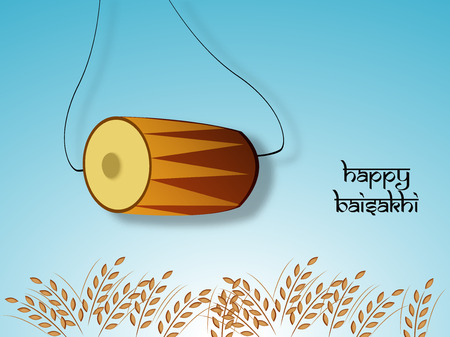 Illustration of background for Baisakhi