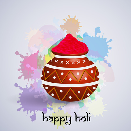 gulal: Illustration of background for the occasion of holi festival