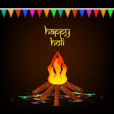 holi: Illustration of background for the occasion of holi festival