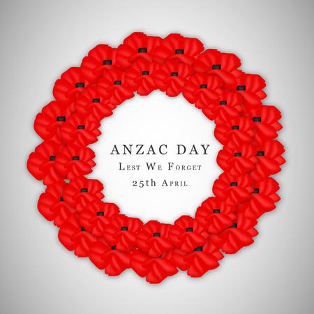 memorial cross: Ilustración de fondo para el día de Anzac Vectores