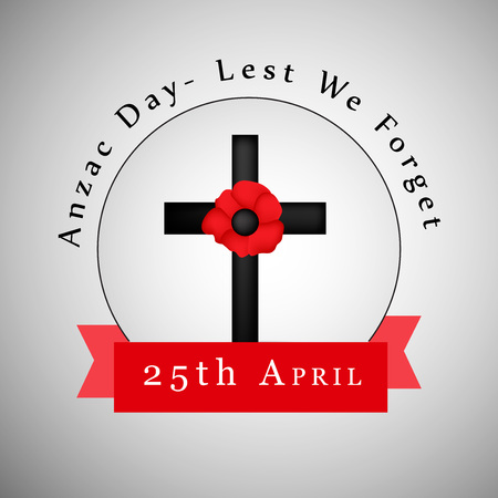 memorial cross: Illustration of background for Anzac day Vectores