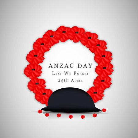 Illustration of background for Anzac day Illustration