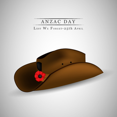 25th: Illustration of background for Anzac day Illustration