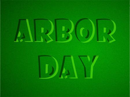 Illustration of background for Arbor day Illustration
