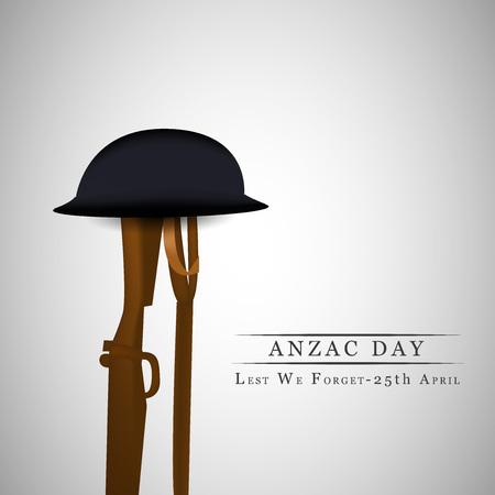 memorial cross: Ilustración del fondo para el día de Anzac Vectores