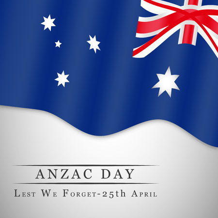 Illustration of Australia Flag for Anzac Day Illustration