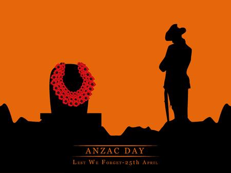 Illustratie van achtergrond voor Anzac Day Stock Illustratie