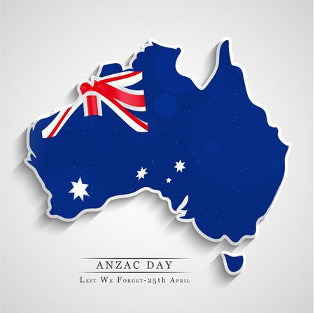 Illustration of Australia flag for Anzac Day Stock Illustratie